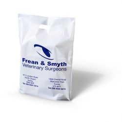 Frean and smyth white patch handle bag