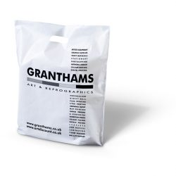 Granthams white patch handle bag