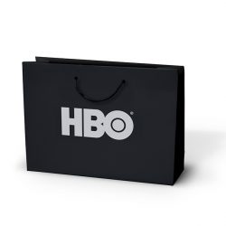 HBO black paper bag