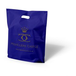Highclere castle purple punched handle bag