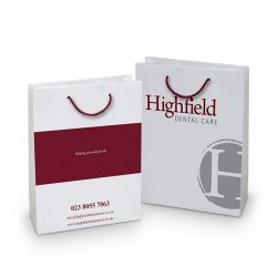 Highfield white paper bag