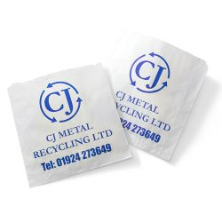 CJ Metal Recycling plastic sleeve