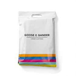 Goose and gander white mail bag
