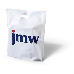 JMW white punched handle bag