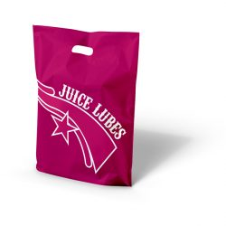 Juice lubes pink patch handle bag
