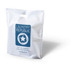 Laundry republic white punched handle bag