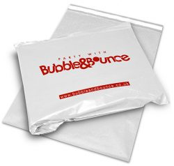 Bubble and bounce white mail bag