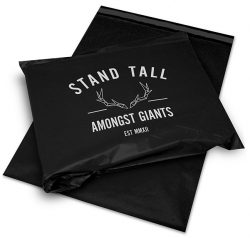 Stand tall amongst giants black and white mail bags