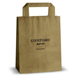 Courtyard brown kraft bag