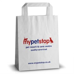 My pet stop white kraft bag