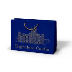 Highclere castle blue paper bag