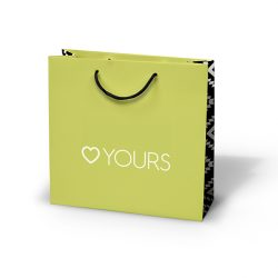 Yours clothing green paper bag