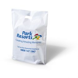 Park resorts white patch handle bag
