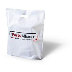 Parts alliance white punched handle bag