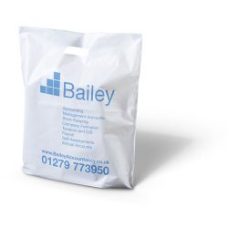 Bailey white punched handle bag