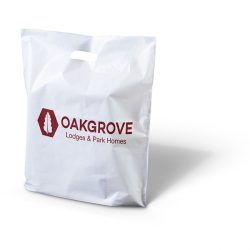 Oakgrove white punched handle bag