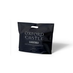 Oxford castle black punched handle bag