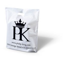 Philip King white punched handle bag