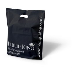 Philip King black punched handle bag