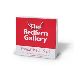 Redfern gallery red and white paper bag