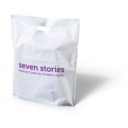 Seven stories punched handle bag