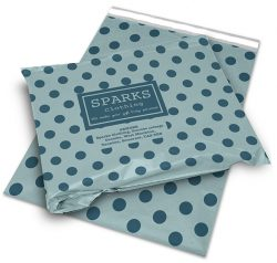 Sparks clothing mail bag with blue dots