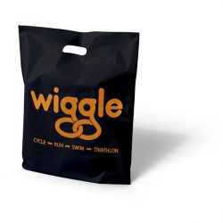 Wiggle black patch handle bag