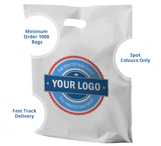 Printed Punched Handle Plastic Bags